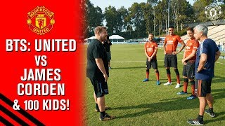 Behind The Scenes | Manchester United vs. James Corden & 100 Kids! | The Late Late Show | BTS