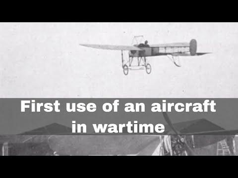 Vliegtuig wat gebruik is in 1911 in Italiaans-Turkse oorlog