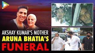 Akshay Kumar's mother Aruna Bhatia's funeral: Twinkle, Riteish and celebs bid her a final goodbye