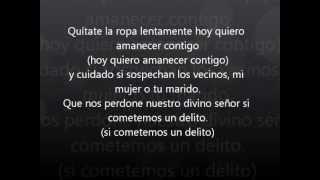 Aventura- Los infieles (letra)
