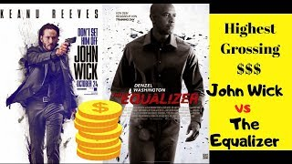 John Wick vs The Equalizer - Highest Domestic Grossing [Daily Revenue]