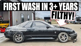 Detailing my FILTHY Abandoned R32 Skyline - First Wash in 3+ YEARS by Evan Shanks