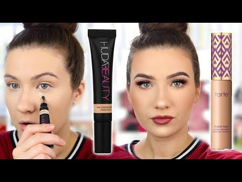 BETTER THAN SHAPE TAPE?! Huda Beauty Overachiever Concealer Review and Comparison Demo