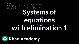 Solving systems by elimination 2
