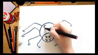 Como dibujar una Araña - dibujos para niños