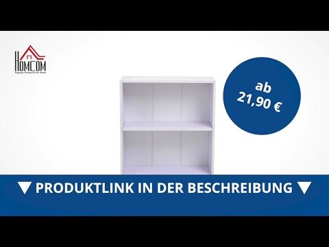 Homcom Bücherregal 2 Fächer Allzweckregal Standregal  - direkt kaufen!