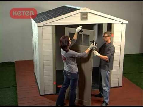 Como construir un cobertizo de resina de Keter
