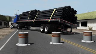 Impatient Drivers: Bollard Crashes | BeamNG.drive