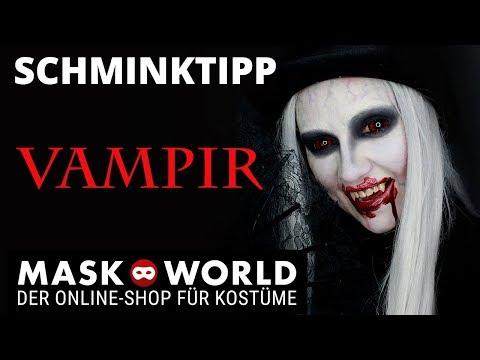 Quick and easy Halloween Vampire Make-up tutorial, Schminktipp Vampir
