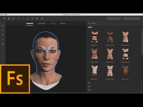 Adobe Fuse CC/Mixamo Beginners Tutorial