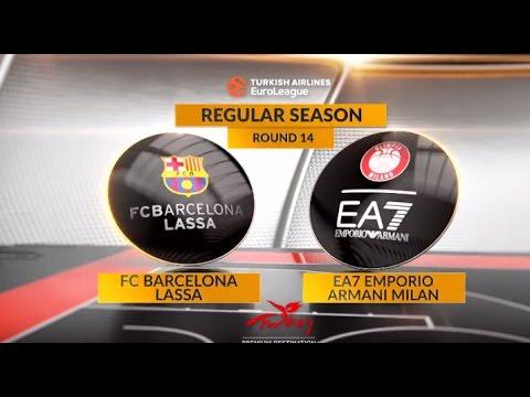 EuroLeague Highlights RS Round 14: FC Barcelona Lassa 89-75 EA7 Emporio Armani Milan