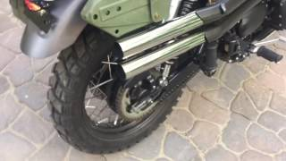 Triumph British Customs Shotgun Exhaust