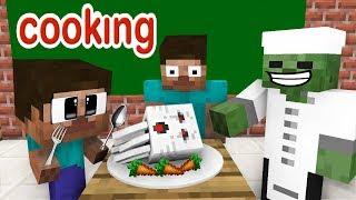 Video Monster School: Cooking Challenge - Minecraft Animation MP3, 3GP, MP4, WEBM, AVI, FLV September 2019