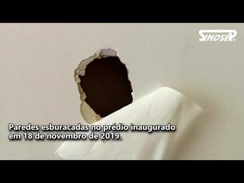 UPA Perus | Sete meses inaugurado, serviço tem paredes esburacadas, faltam funcionários e até água