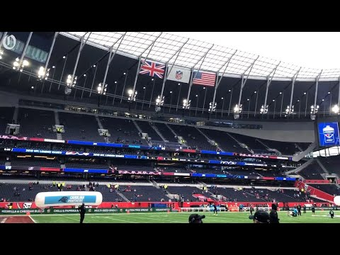 Tottenham Hotspur Stadium is expansive and impressive for Panthers Bucs NFL game