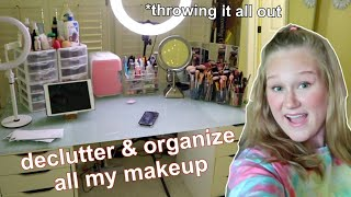 Cleaning Out My ENTIRE Makeup Collection *i Threw It All Away
