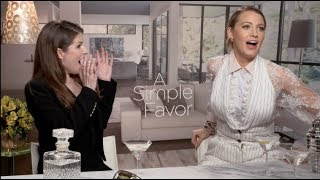 A SIMPLE FAVOR interviews - Blake Lively, Anna Kendrick, Henry Golding, Paul Feig