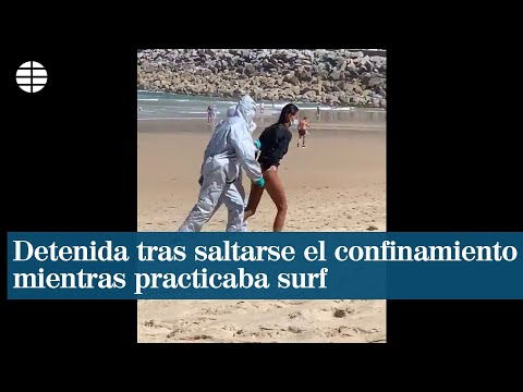 Frau mit Corona wegen Surfens festgenommen