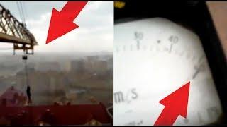 Каково это находиться в кабине башенного крана в штормовую погоду 50 м/с.?