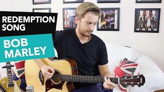 'Redemption Song' Bob Marley Guitar Lesson Tutorial - Easy Beginner