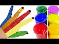 Body Painting Learning Colors Finger Family Nursey Rhymers for Kids Childrens and Baby Hand Paint