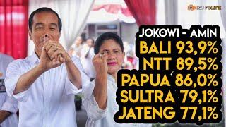 Ini 5 Provinsi Yang Memenangkan Jokowi-Amin Dengan Telak
