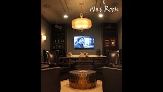 Basement Cigar / Wine Room Design