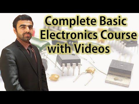 Online Complete Basic Electronics Course वीडियो के साथ ऑनलाइन कम्प्लीट बेसिक इलेक्ट्रॉनिक्स कोर्स