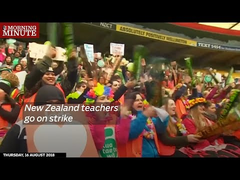New Zealand teachers go on strike
