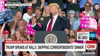 """CNN Sucks"" Chant by Crowd at Trump First 100 Days Rally"