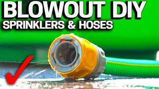 How to Winterize Lawn Sprinklers & Hoses DIY BLOWOUT