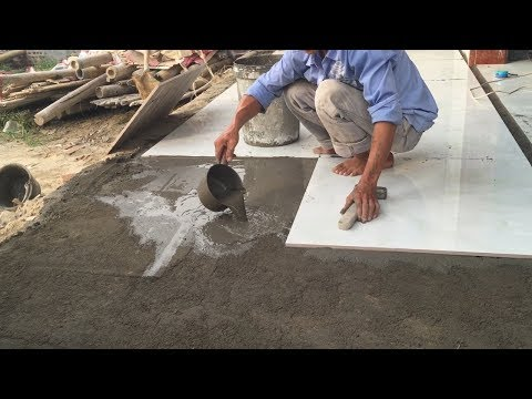 How To Buiding And Install Floor With Ceramic Tile Easy – Install Tiles Large Format 80×80 cm