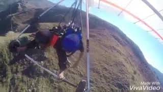 preview picture of video 'Hang gliding from 1500 feet height flying experience'