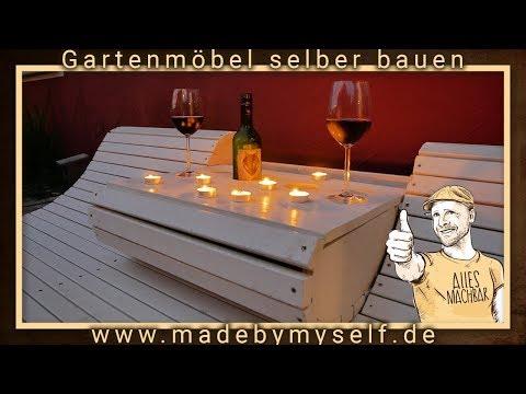 DIY Gartenmöbel Ideen, selber bauen, Gartenliege aus Holz, Luxus Hollywoodschaukel Teil II