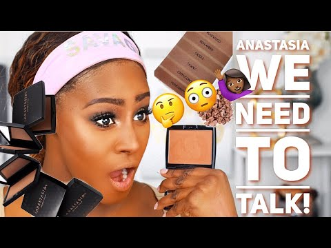 *NEW* ANASTASIA BEVERLY HILLS POWDER  MAHOGANY BRONZER ON DARK SKIN REVIEW & DEMO! | Shlinda1