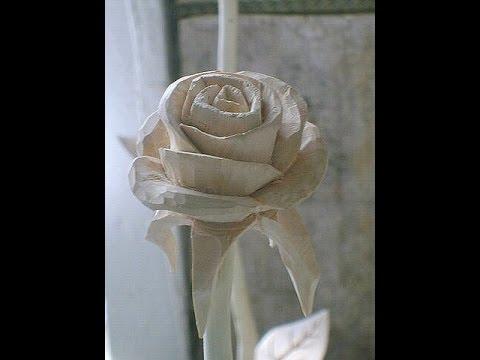 Роза. Поэтапно режем розу, от начала до конца, очень просто.How to cut a rose Скульптура.