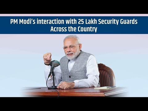 PM Modi's interaction with 25 Lakhs Security Guards Across the Country