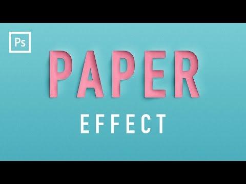 Photoshop Tutorials – Paper Cutout Text Effect