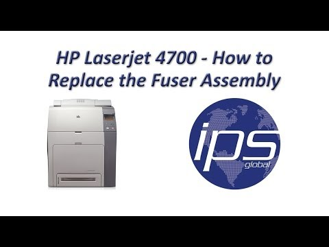 HP 4700 - How To Replace The Fuser Assembly Updated Mp3