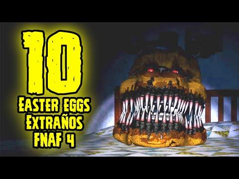 TOP 10: 10 Easter Eggs Mas Extraños De Five Nights At Freddy's 4 Que Tu No Sabias | FNAF 4