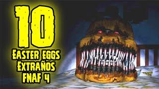 TOP 10: 10 Easter Eggs Mas Extraños De Five Nights At Freddy's 4 Que Tu No Sabias   FNAF 4