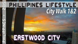 Manila Philippines Eastwood City VLOG 1 City Walk | Asia Travel VLOG