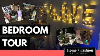 BEDROOM TOUR! DIY Love Fairy Lights And Photo Memory Board!