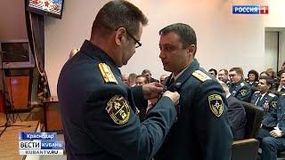 Пожарные и спасатели принимают поздравления