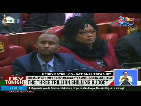 Treasury CS Henry Rotich read Kenya's ambitious budget