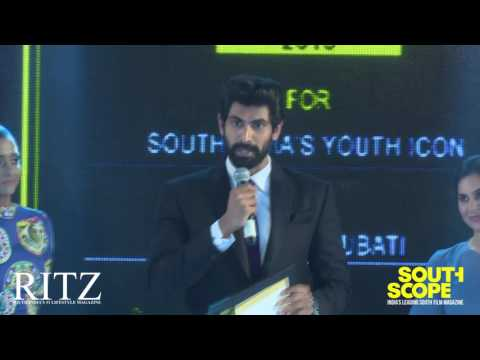 Rana Daggubatti wins SouthScope's South India Youth Icon Award