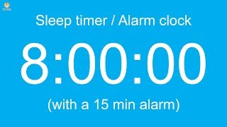 8 hour Sleep timer / Alarm clock (Normal version)
