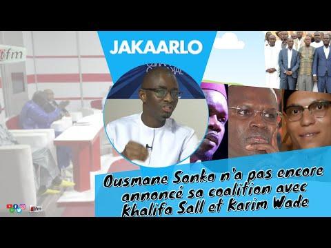 Ousmane Sonko n'a pas encore annoncé sa coalition avec Khalifa Sall et Karim Wade Ousmane Sonko n'a pas encore annoncé sa coalition avec Khalifa Sall et Karim Wade