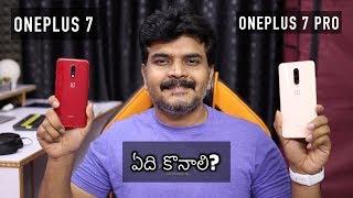 Oneplus 7 VS 7 Pro Comparison Review ll in Telugu ll
