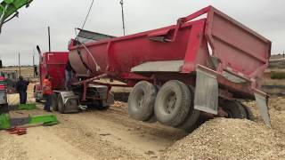 Flipped the end dump